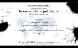 La corruption politique-Session 1-2