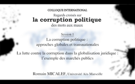 La corruption politique-Session 1-3