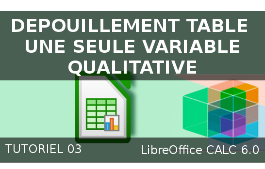 Dépouillement d'une simple table contenant une variable qualitative