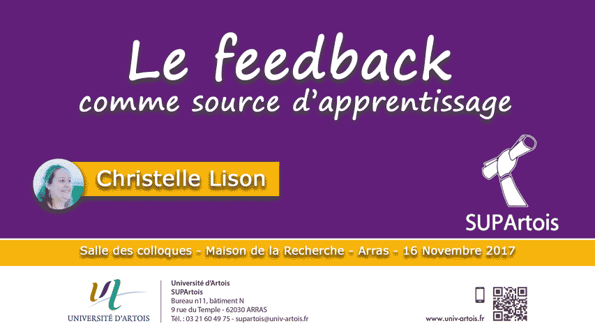 Christelle Lison - Le feedback comme source d'apprentissage