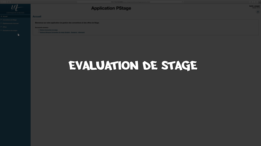 PStage - Evaluation de stage